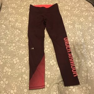Under Armour Maroon Leggings